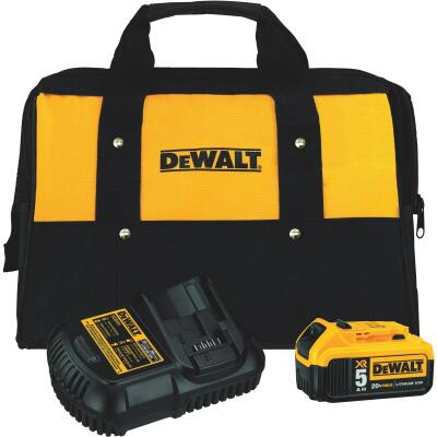 DeWalt 20 Volt MAX XR Lithium-Ion 5.0 Ah Tool Battery and Charger Kit