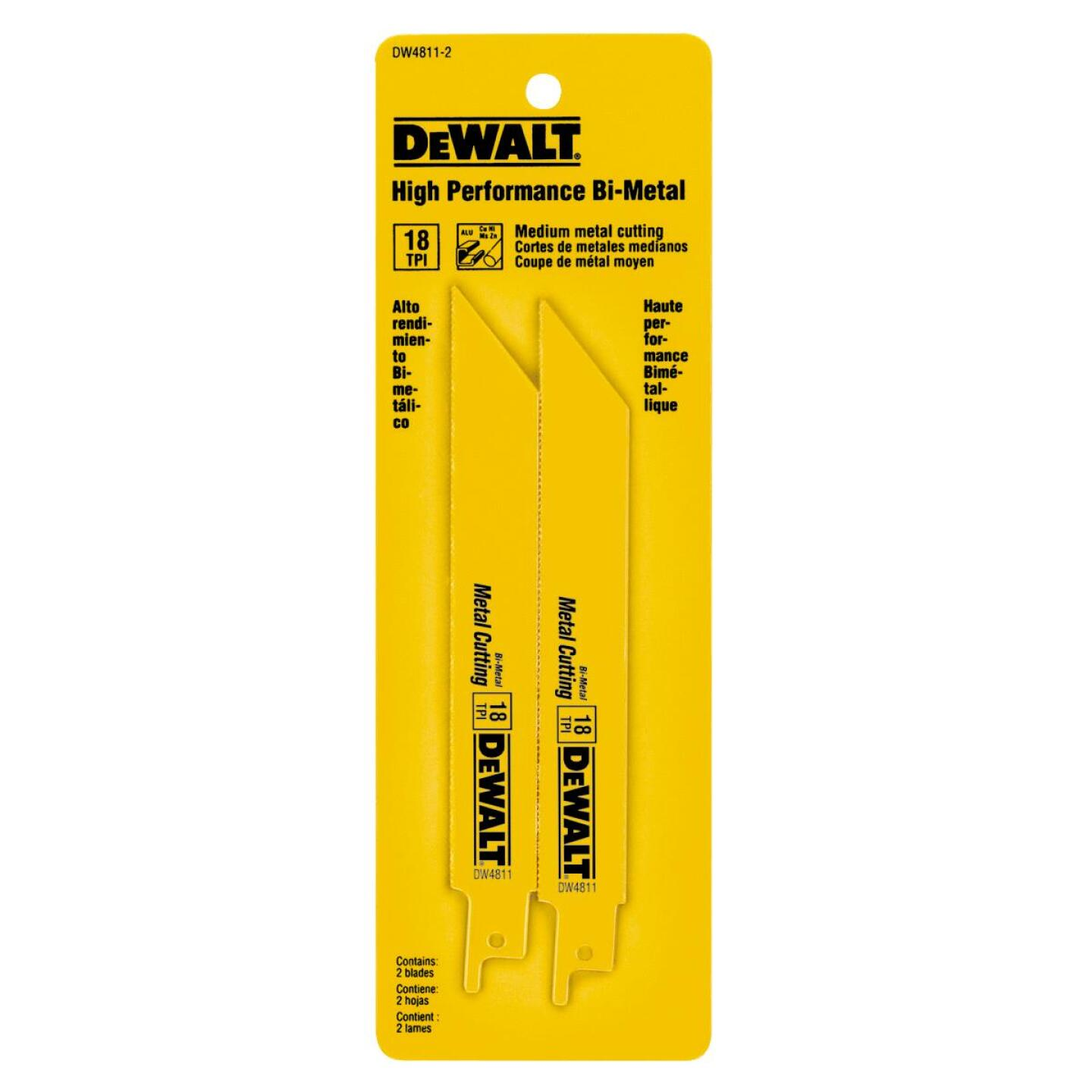 DeWalt 6 In. 18 TPI Medium Metal Reciprocating Saw Blade (2-Pack) Image 2
