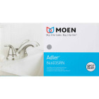 Moen Adler Brushed Nickel 2-Handle Lever 4 In. Centerset Bathroom Faucet with Pop-Up Image 2