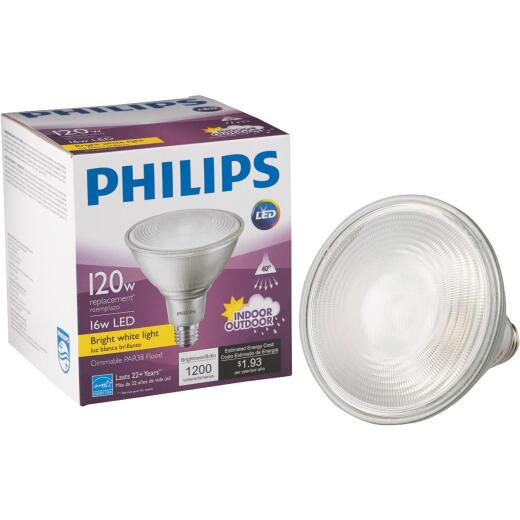 Philips 120W Equivalent Bright White PAR38 Medium Dimmable LED Floodlight Light Bulb