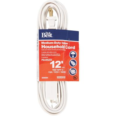 Do it Best 12 Ft. 16/2 White Cube Tap Extension Cord