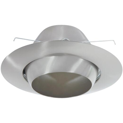 Thomas 6 In. Brushed Nickel Eyeball Adjustable Spot Recessed Fixture Trim