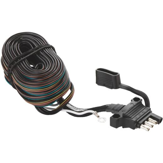Hopkins Endurance 4-Flat 20 Ft. Trailer Wire/36 In. Ground Wire Trailer Y-Harness