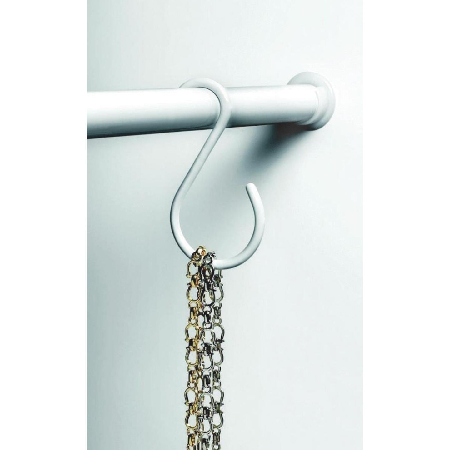 Spectrum White Closet Rod Hook Image 1