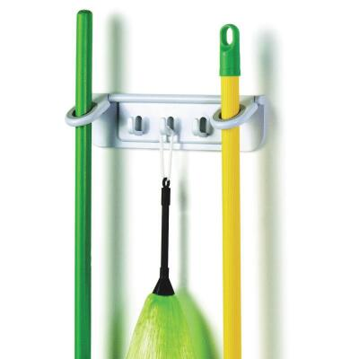 Spectrum 11-1/4 In. Mop & Broom Long Handle Tool Rack