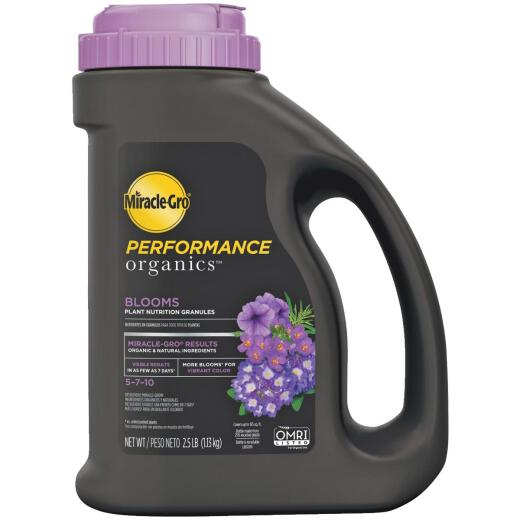 Miracle-Gro Performance Organics 2.5 Lb. 5-7-10 Plant Food for Bold Blooms