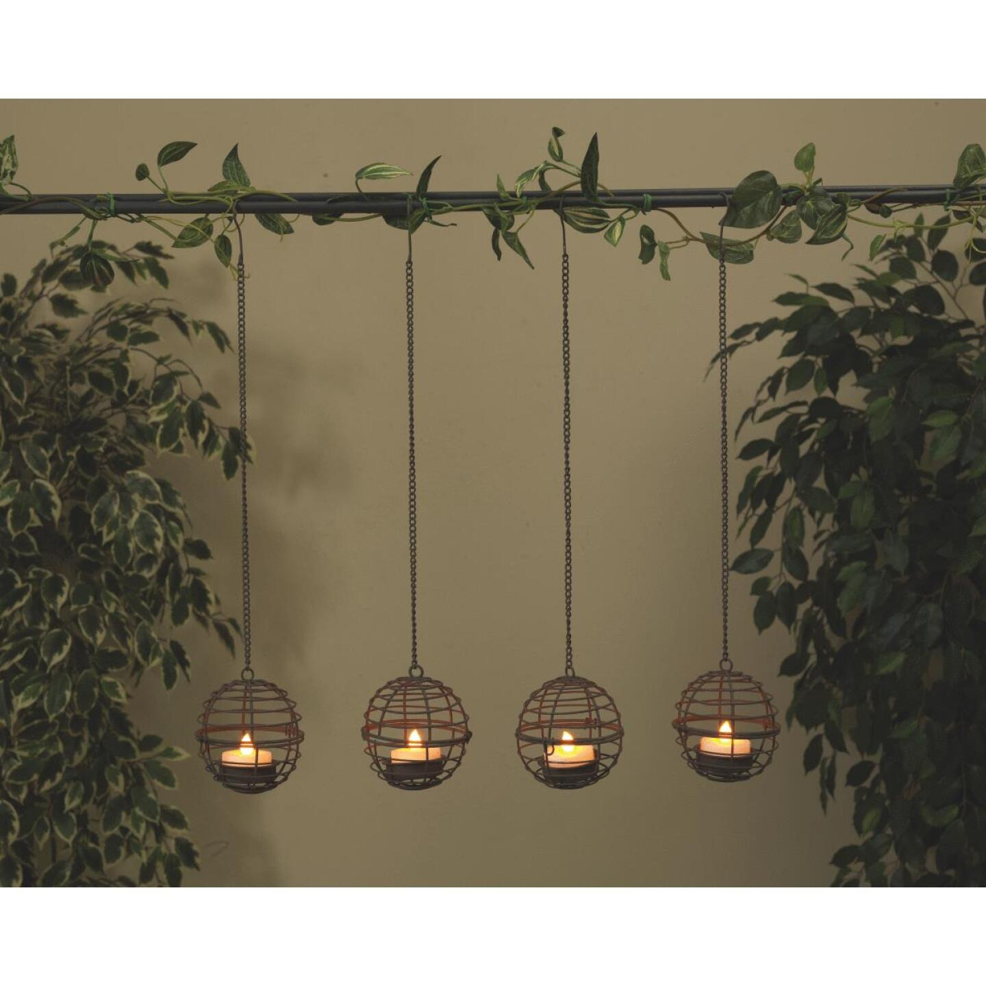 Gerson 4-Light Brown Wire Hanging Fireball Patio Light Set (4-Pack) Image 2